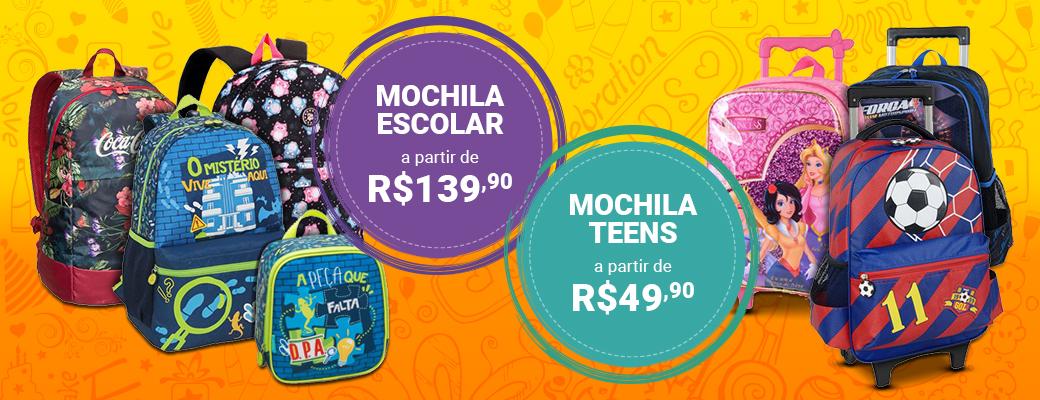 Banner Mochilas infantis